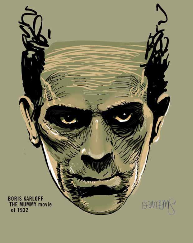 Boris Karloff Mummy by Erik Weems