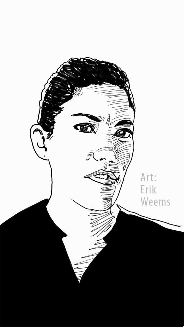 Ink Drawing by Erik Weems