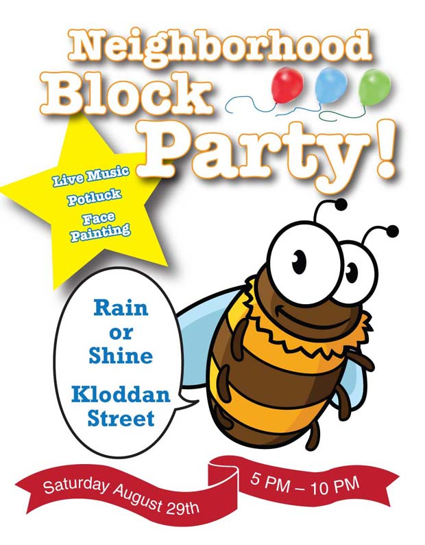Bee Block Party Flyer