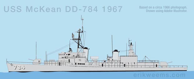 USS McKean Illustration