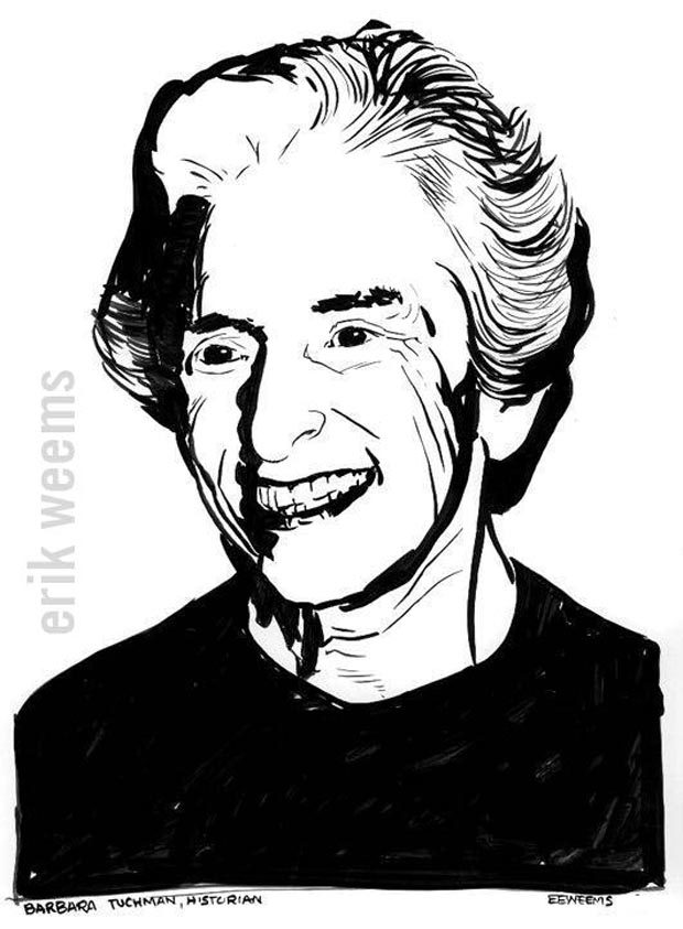 Barbara Tuchman - Illustration by Erik Weems