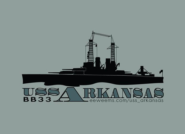 USS Arkansas Logo Design for Shirt