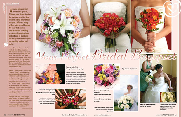 2 Page Wedding Magazine Spread